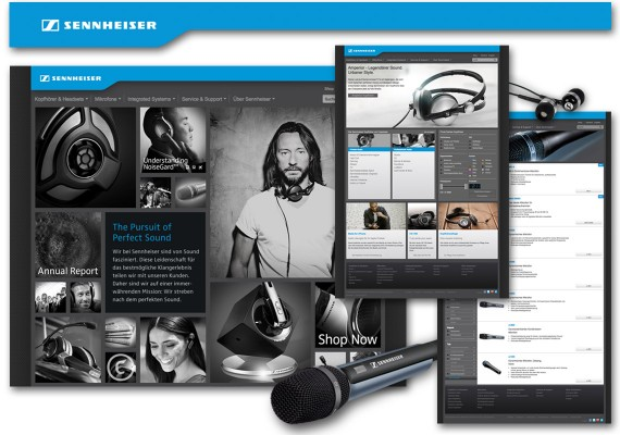 Sennheiser – Relaunch des internationalen Markenauftritts