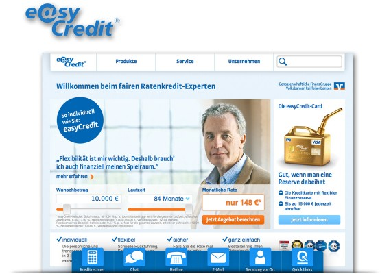 easyCredit – Relaunch der Markenwebsite