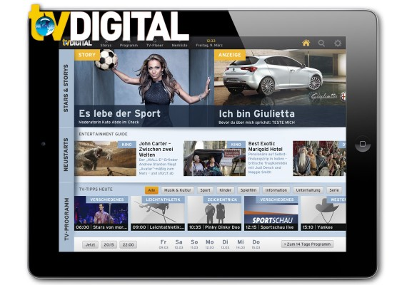 TV Digital – HTML5-basierte iPad-App