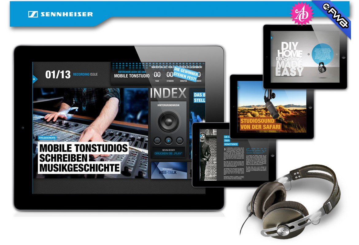 Blue Stage by Sennheiser – Interaktives Corporate Magazin fürs iPad